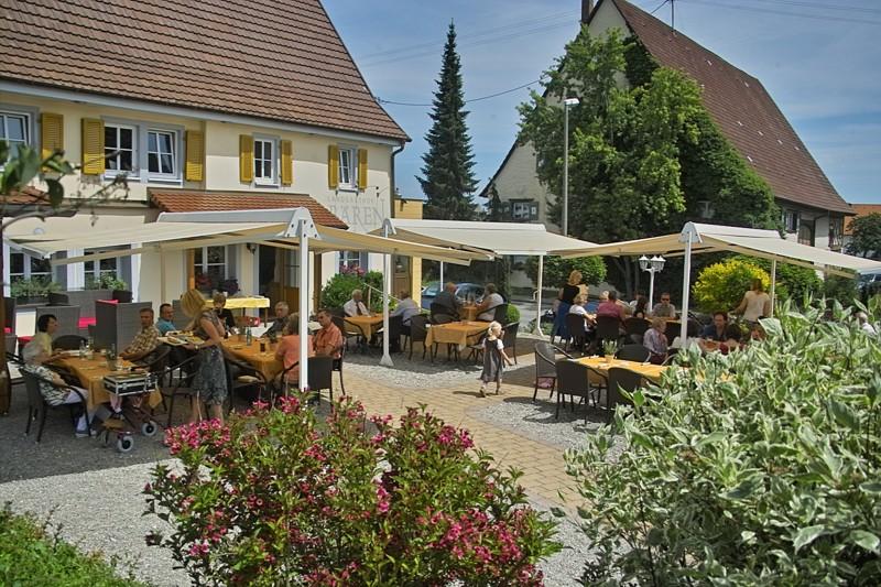 Landgasthof Bären::Gartenterrasse & Aussenlounge